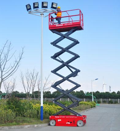 电动升降平台在飞行行业的运用